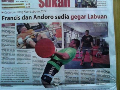 Saya dalam Borneo Post sebelum pertandingan