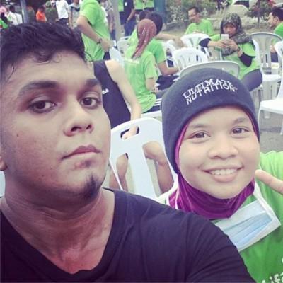 Selepas tamat 5km UMW Eco Run, dalam 35 minit