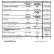 Kalendar Bina Badan 2014