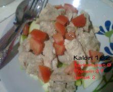Kelas Kalori: Ayam Stim Halia + Epal + Tomato
