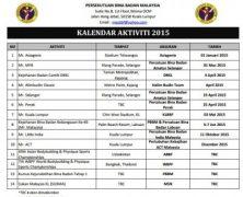 Kalendar Bina Badan 2015