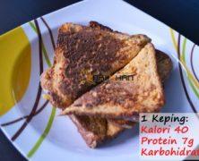 Kelas Kalori: Protein French Toast + Honey